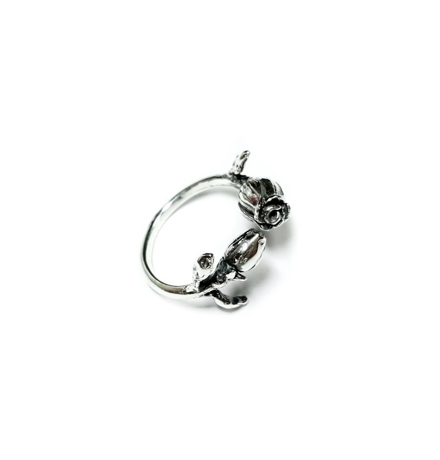 The Name of The rose Ring, Sterling Silver
