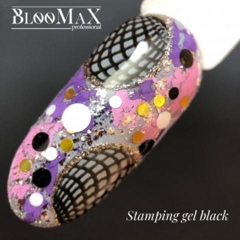 Гель краска для стемпинга, Stamping gel, черная, 5 мл