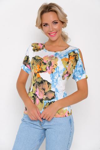 """<p>Отличное решение для любого торжества! Особую оригинальность модели придают разрезы на рукавах в виде капли. Блуза отлично сочетается с трикотажными брюками """"Катрин"""" из осенней коллекции.<span>&nbsp;Длины: (46-48р-58,50-52р-59).</span></p>"""