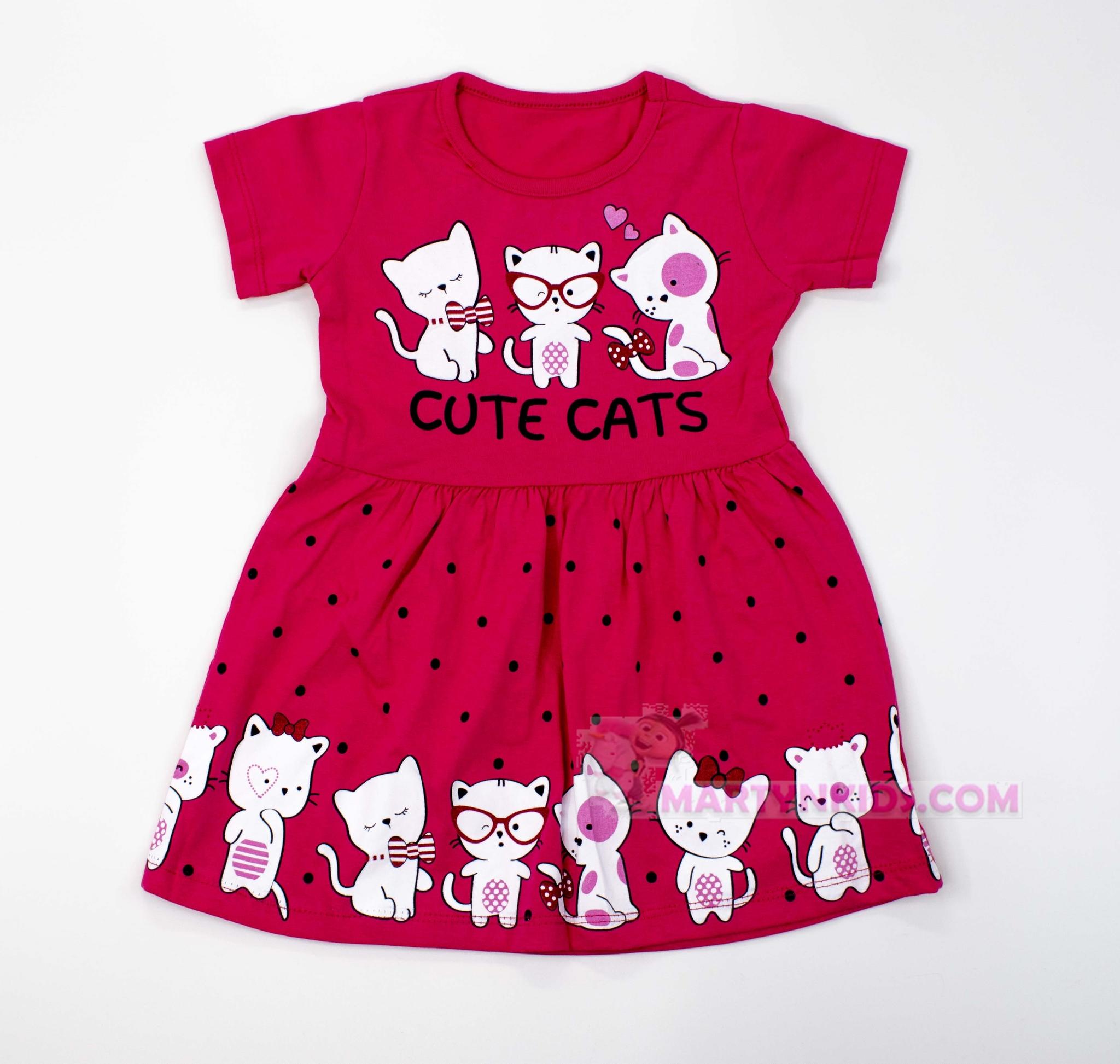 3528 платье Милые котята