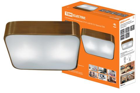 Светильник потолочный СП 07 2х60Вт E27 бронза TDM