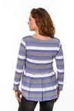 Джемпер для беременных 08753 синий/серый