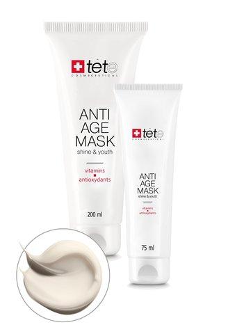 Омолаживающая маска с витаминами и антиоксидантами Отбеливающее действие / TETe Anti-age Mask Vitamins and Antioxydants