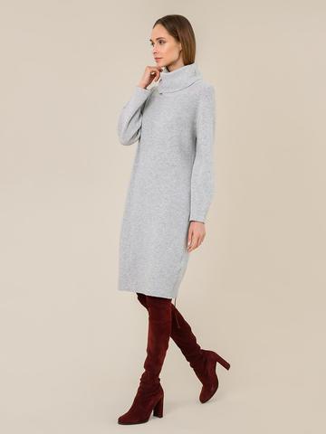 Женское платье светло-серого цвета из шерсти и кашемира - фото 3