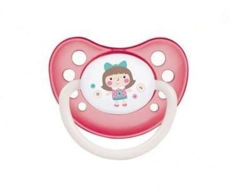 Canpol. Пустышка анатомическая Toys силикон, 0-6 мес., розовый