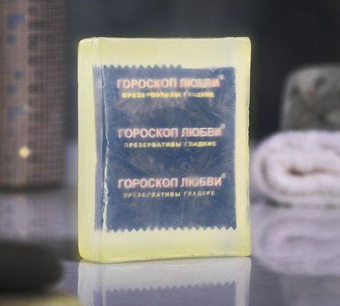 Светящееся мыло  Экстренная помощь  с презервативом - 105 гр.