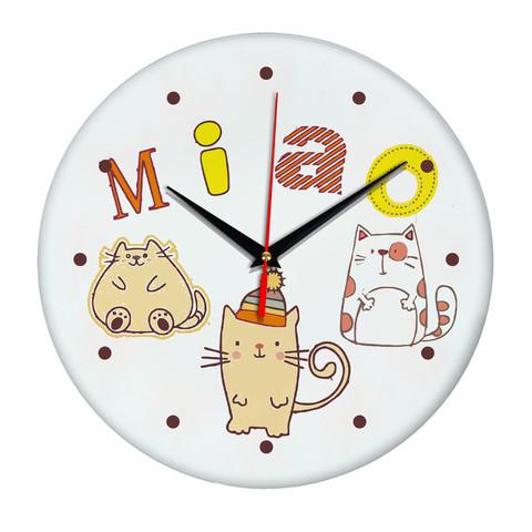 Часы настенные с котиками Катэ Miao