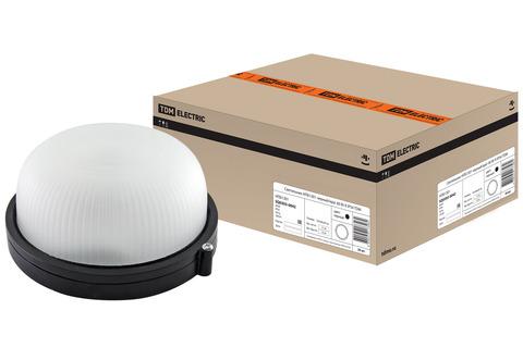 Светильник НПБ1301 черный/круг 60Вт К IP54 TDM