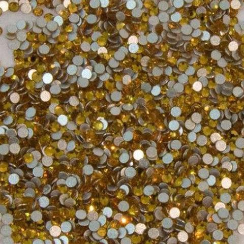 Стразы стекло, ss3 Желтый 50 шт.