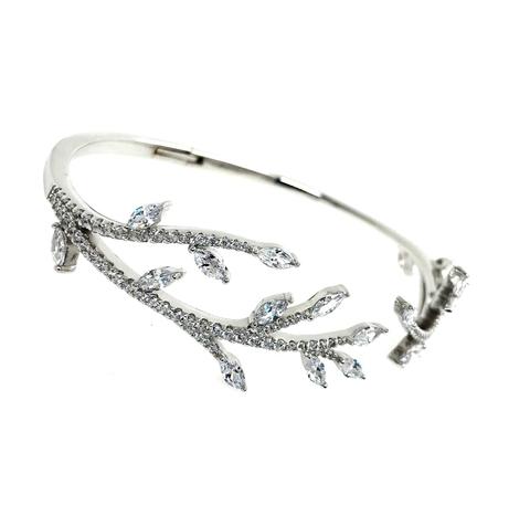 47965 - Изящный браслет из серебра Веточки