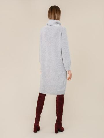 Женское платье светло-серого цвета из шерсти и кашемира - фото 4