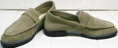 Лоферы летние. Офисная обувь без каблука. Osso 2668 Beige.