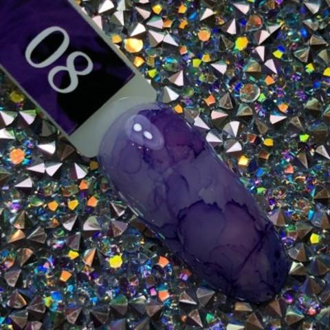 Акварельные капли для росписи №8 (фиолетовые) BlooMax, 5 мл