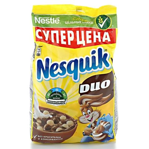 Готовый завтрак NESQUIK Duo 250 гр ДП Nestle РОССИЯ