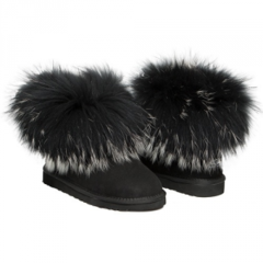 UGG Mini Fox Fur Ultra Black