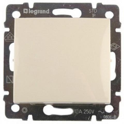 Выключатель одноклавишный - 10 AX - 250 В~. Цвет Слоновая кость. Legrand Valena Classic (Легранд Валена Классик). 774301
