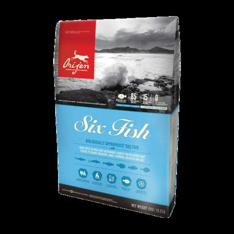 Orijen Adult Six Fish Сухой корм для собак гипоаллергенный 6 видов Рыбы беззерновой