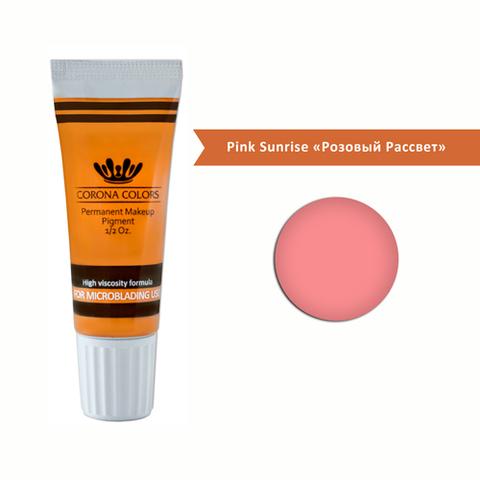 Пигмент Corona Colors для микроблейдинга Pink Sunrise «Розовый Рассвет» 15 мл
