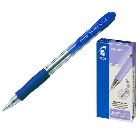 Ручка шариковая автоматическая Pilot BPGP-10R-F синяя (толщина линии 0.32 мм)