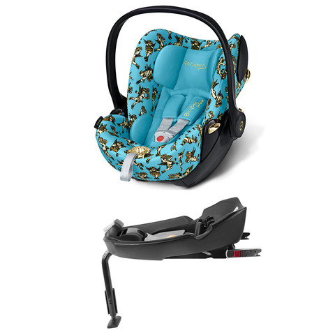 Комплект Cybex Cloud Q JS Cherubs Blue + Base fix