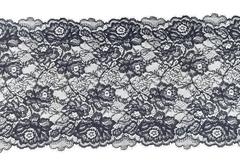 Эластичное кружево, с ресничками, черное, 23,5 см, (Арт: EK-2019), м