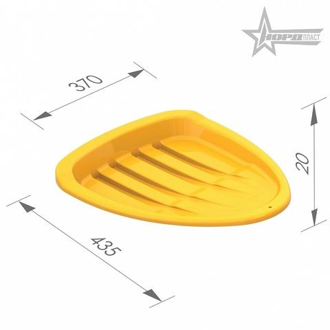 Детские салазки, желтые (43.5x37x2 см.), Нордпласт, 014/1
