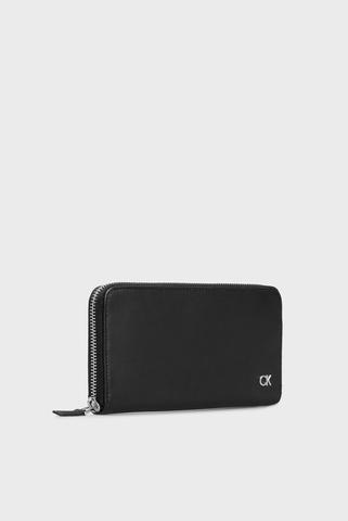 Мужской черный кожаный кошелек Calvin Klein