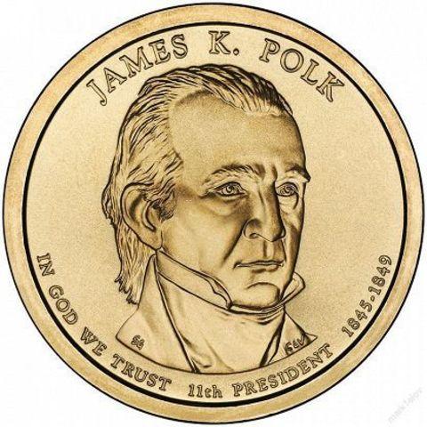 1 доллар 11-й президент США Джеймс Нокс Полк 2009 год