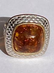 Мелина (кольцо из серебра с позолотой)