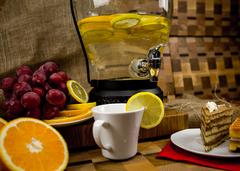 Стеклянный диспенсер для напитков «Кантри Фонарь», 5 литров, фото 4