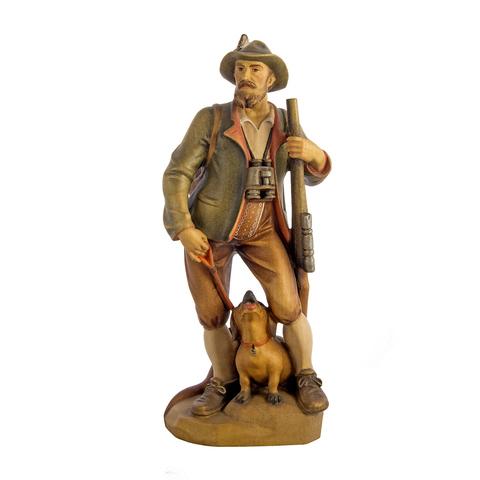 Охотник с ружьем и собакой