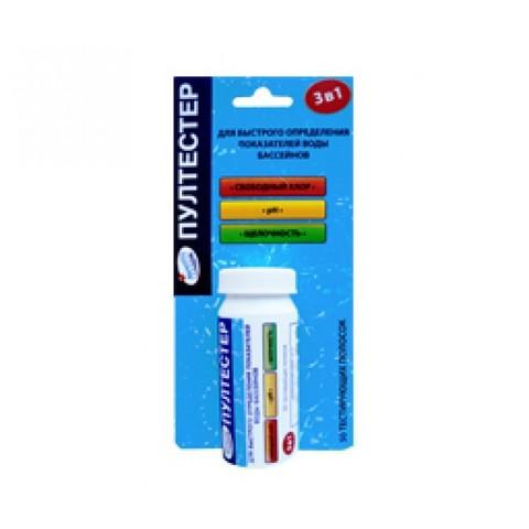 ПУЛТЕСТЕР, pH/CL/Щелочность, упаковка 50 полосок