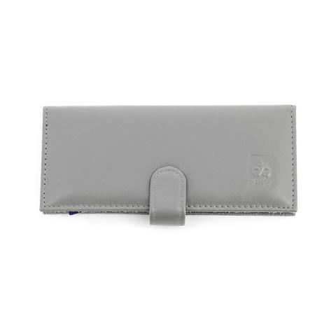 Маникюрный набор Dewal, 6 предметов, цвет серый, кожаный футляр