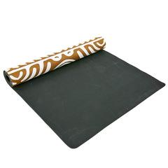 Коврик для йоги, 3мм, двухслойный,каучук и замша