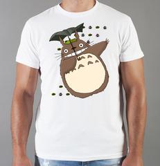 Футболка с принтом Мой сосед Тоторо (Totoro) белая 0010