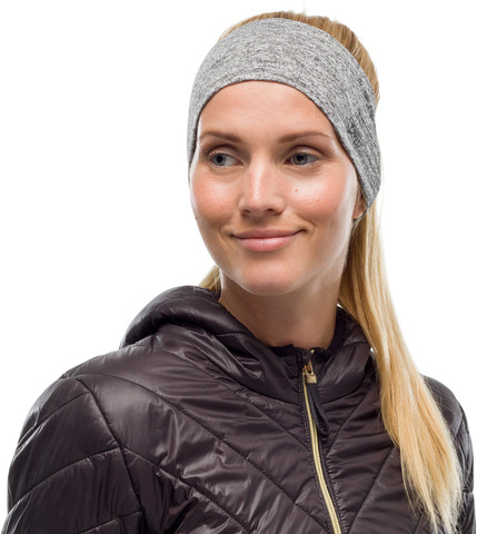Повязка спортивная светоотражающая Buff Headband Dryflx R-Light Grey фото 2