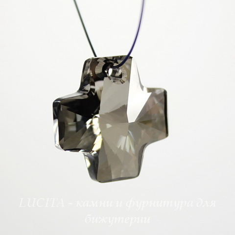 6866 Подвеска Сваровски Крестик Crystal Metallic Silver (20 мм) ()