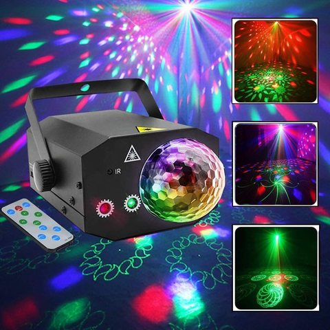 Лазерный проектор, светомузыка 16 and 1 Laser Magic Ball