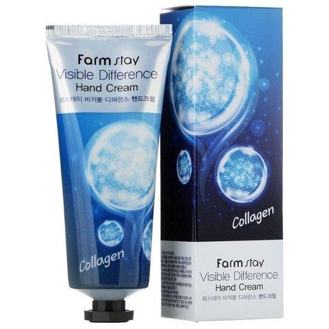Крем для рук с коллагеном FarmStay Visible Difference Collagen Hand Cream
