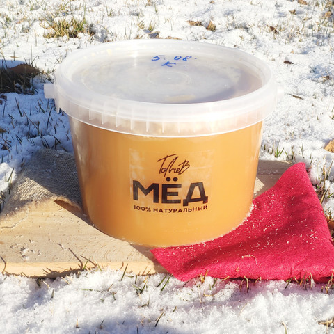 Мёд цветочный конца лета 2020 Казнаковка 3 литра (4,3кг)
