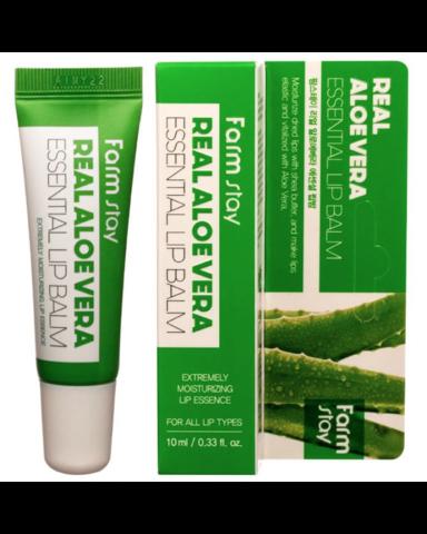 FarmStay Бальзам увлажняющий для губ с алоэ Real Aloe Vera Essential Lip Balm 10 мл.