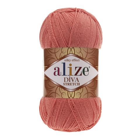 Пряжа Alize Diva Stretch коралловый 619