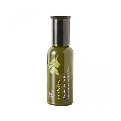 INNISFREE Olive Real Serum Ex Глубокоувлажняющая и питательная сыворотка для лица с органическим маслом оливы Инисфри