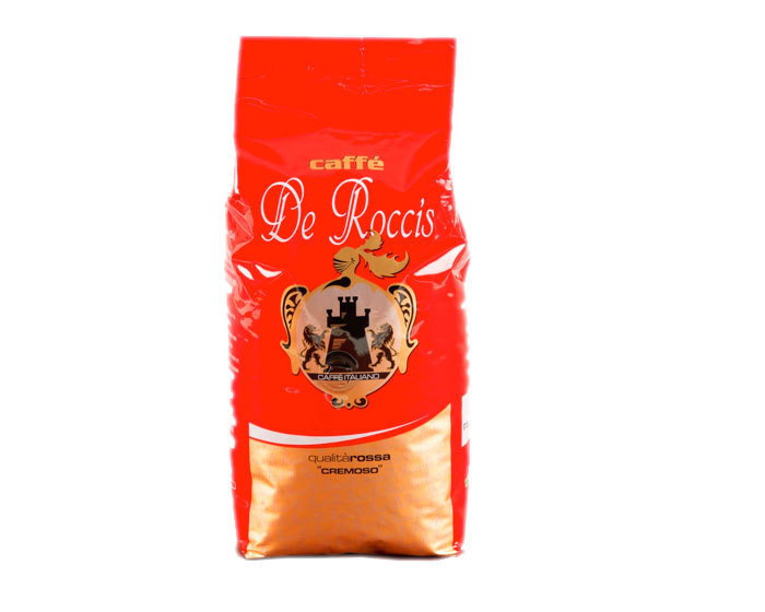 Кофе в зернах De Roccis Rosso, 1 кг (Де Роччис)