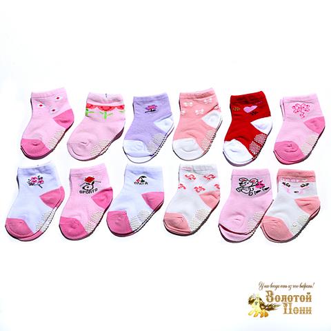 Носочки малышам с тормозами (0-18) 180516-Р3537