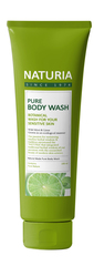 Гель для душа Дикая мята и Лайм , NATURIA, Pure Body Wash (Wild Mint & Lime),  100 мл