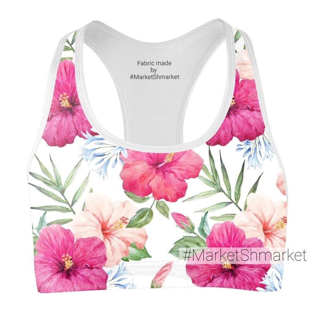 Тропический паттерн с розовыми гибискусами. Tropical pattern pink hibiscus.