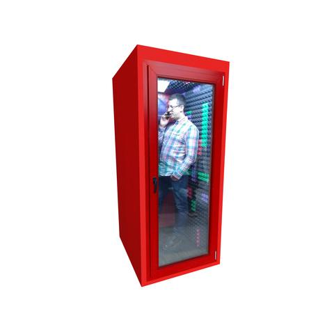 Клубная телефонная будка 60Дб , размеры  100х100х220