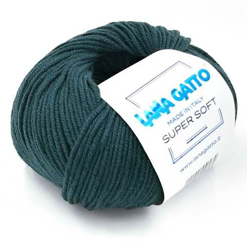 Пряжа Lana Gatto Supersoft 8563 зеленый