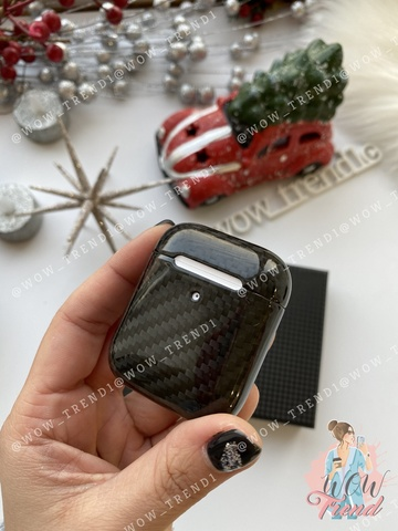 Чехол для AirPods2 Carbon case